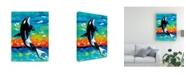 "Trademark Global Carolee Vitaletti Ocean Friends Bold I Canvas Art - 37"" x 49"""