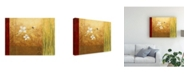 "Trademark Global Pablo Esteban White on Panels 4 Canvas Art - 36.5"" x 48"""