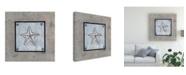 "Trademark Global Pablo Esteban Shell on Blue Gray 4 Canvas Art - 15.5"" x 21"""