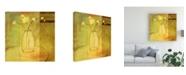 "Trademark Global Pablo Esteban Flowers in Glass Vase 1 Canvas Art - 36.5"" x 48"""