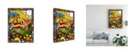 "Trademark Global Oscar Ortiz Hut Under Yellow Canvas Art - 27"" x 33.5"""