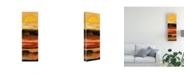 "Trademark Global Pablo Esteban Yellow Red Wave Pattern 1 Canvas Art - 27"" x 33.5"""