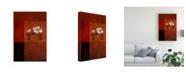 "Trademark Global Pablo Esteban White Floral Bold Red 2 Canvas Art - 27"" x 33.5"""