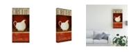 "Trademark Global Pablo Esteban White Pitcher in Red 1 Canvas Art - 15.5"" x 21"""