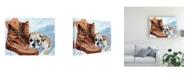 "Trademark Global Patrick Sullivan Boots Bulldog Canvas Art - 15.5"" x 21"""