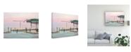 "Trademark Global Patrick Sullivan Fishing Broken Pier Canvas Art - 15.5"" x 21"""