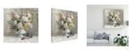 "Trademark Global Danhui Nai Rustic Florals White Canvas Art - 15.5"" x 21"""