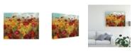"Trademark Global Danhui Nai Cosmos in the Field Canvas Art - 15.5"" x 21"""