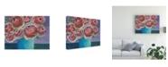 "Trademark Global Regina Moore Candy Flowers I Canvas Art - 36.5"" x 48"""