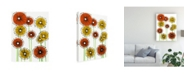 "Trademark Global Regina Moore Flower Wheels II Canvas Art - 19.5"" x 26"""