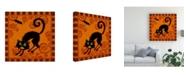 "Trademark Global Viv Eisner Spooktacular Orange II Canvas Art - 15.5"" x 21"""