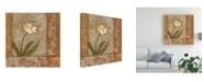 "Trademark Global Judi Bagnato Morning Floral I Canvas Art - 15.5"" x 21"""