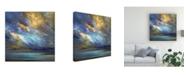 "Trademark Global Sheila Finch Coastal Clouds 30 Canvas Art - 36.5"" x 48"""