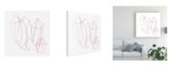 "Trademark Global June Erica Vess Contour Crystals II Canvas Art - 36.5"" x 48"""