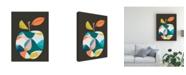 "Trademark Global June Erica Vess Fab Fruit III Canvas Art - 36.5"" x 48"""