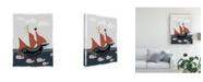"Trademark Global Rob Delamater Oceans Ahoy II Canvas Art - 36.5"" x 48"""