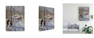 "Trademark Global Peter Snyder Warm Spring Day Canvas Art - 27"" x 33.5"""