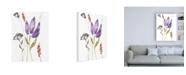 """Trademark Global Jennifer Goldberger Ultraviolet Bouquet I Canvas Art - 19.5"""" x 26"""""""
