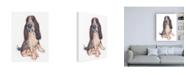 "Trademark Global June Erica Vess Dog Portrait Ajax Canvas Art - 36.5"" x 48"""
