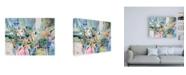 "Trademark Global Jennifer Gardner Rainbow Blue II Canvas Art - 36.5"" x 48"""