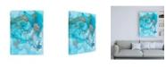 "Trademark Global Joyce Combs Aquarium Abstract I Canvas Art - 36.5"" x 48"""