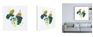 "Trademark Global June Erica Vess Midori III Canvas Art - 36.5"" x 48"""