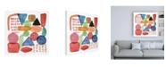 "Trademark Global Melissa Wang Color Code II Canvas Art - 15.5"" x 21"""