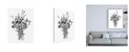 "Trademark Global Emma Scarvey Black and White Bouquet I Canvas Art - 36.5"" x 48"""