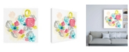 "Trademark Global June Erica Vess Floral Scatter II Canvas Art - 36.5"" x 48"""