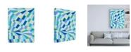 "Trademark Global Nikki Galapon Grid Flow II Canvas Art - 19.5"" x 26"""