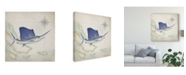 "Trademark Global Rick Novak Sailfish Map II Canvas Art - 15"" x 20"""