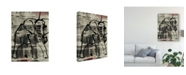 "Trademark Global Joyce Combs Abstract Elephant I Canvas Art - 37"" x 49"""