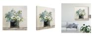 "Trademark Global Danhui Nai Anemones in Hatbox Shiplap Canvas Art - 20"" x 25"""