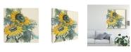 """Trademark Global Chris Paschke Sunflower Watercolor I Canvas Art - 15"""" x 20"""""""