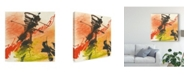"Trademark Global Chris Paschke Graffiti Orange I Canvas Art - 20"" x 25"""