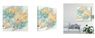 """Trademark Global Chris Paschke Teal Buds I Canvas Art - 20"""" x 25"""""""