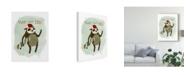 "Trademark Global June Erica Vess Hipster Sloth I Canvas Art - 20"" x 25"""