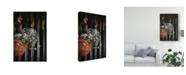 "Trademark Global Christine Sainte-Laudy Blue and White Flowered Waterfall Canvas Art - 37"" x 49"""