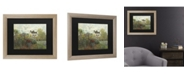"""Trademark Global Claude Monet The Artist's Garden in Argenteuil Matted Framed Art - 27"""" x 33"""""""