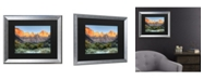 "Trademark Global Pierre Leclerc Zion Sunrise Matted Framed Art - 20"" x 25"""
