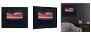 """Trademark Global Pierre Leclerc Mount Mitchell Sunset Matted Framed Art - 15"""" x 20"""""""