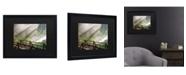 """Trademark Global Pierre Leclerc Forest Sunlight Matted Framed Art - 15"""" x 20"""""""