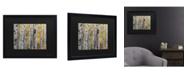 "Trademark Global Pierre Leclerc Aspen Trees Matted Framed Art - 15"" x 20"""