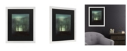 "Trademark Global John Grimshaw Figure in the Moonlight Matted Framed Art - 20"" x 25"""