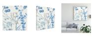 "Trademark Global Lisa Audit Mixed Greens LXVI Blue Canvas Art - 20"" x 25"""