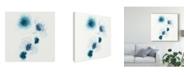 """Trademark Global June Erica Vess Protea Blue I Canvas Art - 27"""" x 33"""""""
