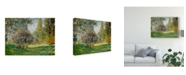"""Trademark Global Claude O. Monet Landscape the Parc Monceau Canvas Art - 37"""" x 49"""""""