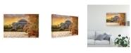 "Trademark Global Lois Bryan A Cherry Blossom Sunset Canvas Art - 20"" x 25"""