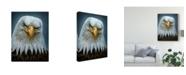 "Trademark Global Patrick Lamontagne Bald Eagle Totem Canvas Art - 20"" x 25"""