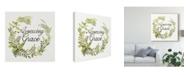 "Trademark Global Kathleen Parr Mckenna Wreath with Words II Canvas Art - 27"" x 33"""